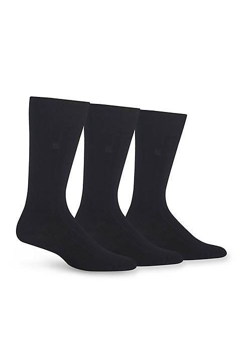 Rib Crew Dress Socks 3-Pack