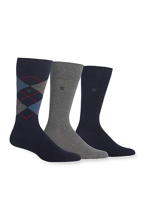 Chaps Argyle Socks- 3-Pack