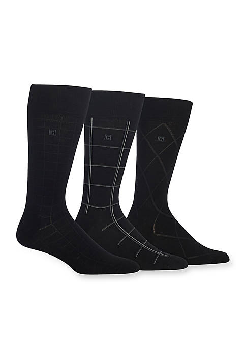 Chaps Windowpane Dress Socks 3-Pack