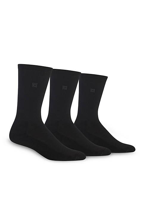 Chaps Cushion Sole Rib Crew Socks