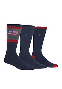 Set of 3 American Flag Dress Socks