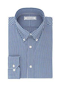 Slim Stretch Gingham Dress Shirt