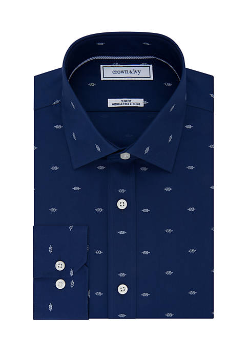 Crown & Ivy™ Slim Stretch Dress Shirt
