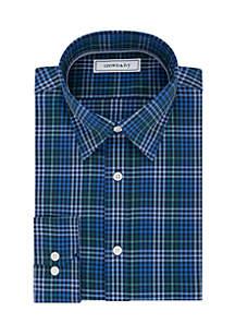 Slim Stretch Check Pattern Button Down Shirt