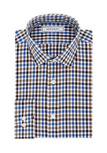 Slim Fit Stretch Gingham Dress Shirt