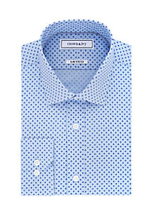 Slim Fit Stretch Print Shirt