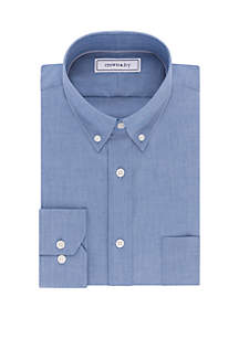 Long Sleeve Slim Chambray Dress Shirt