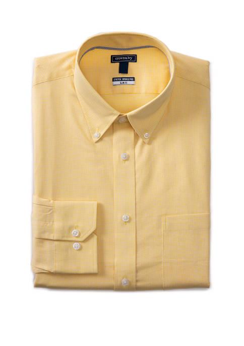 Crown & Ivy™ Slim Stretch Puppytooth Shirt