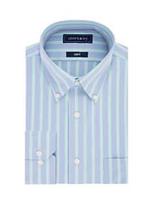 Crown & Ivy™ Slim Fit Bold Stripe Dress Shirt