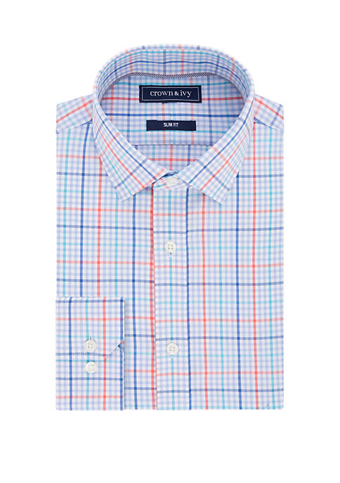 Slim Stretch Multi Check Dress Shirt