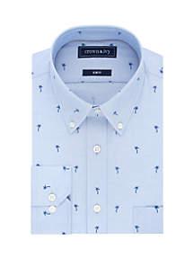 Crown & Ivy™ Slim Stretch Palm Tree Print Dress Shirt