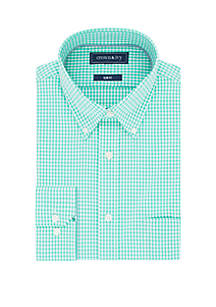 Crown & Ivy™ Slim Stretch Performance Gingham Dress Shirt