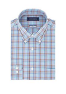 Crown & Ivy™ Slim Stretch Check Button Down Shirt