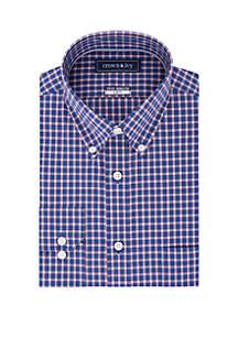 Crown & Ivy™ Slim Stretch Check Shirt