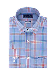 Crown & Ivy™ Slim Stretch Glen Plaid Shirt