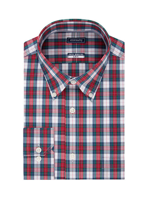 Crown & Ivy™ Men's Motion Flex Stretch Tartan