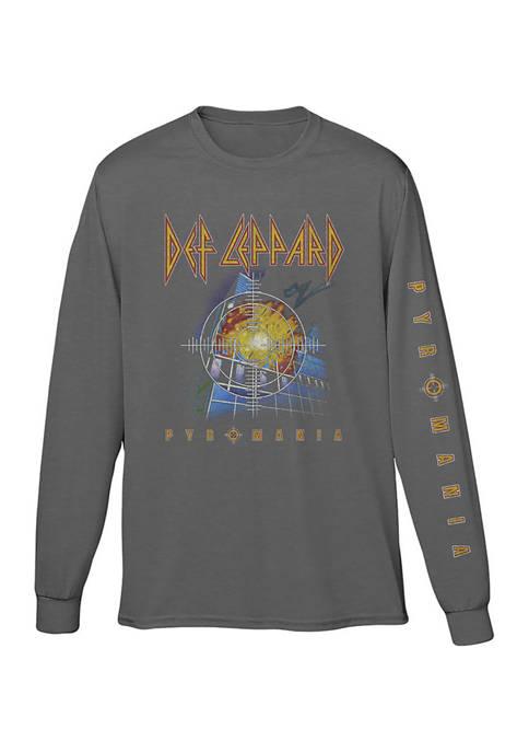 Live Nation Long Sleeve Def Leppard Pyromania T-Shirt