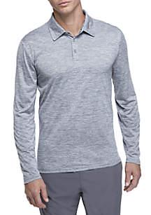 ZELOS Long Sleeve Flex Space Dye Polo