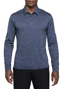Long Sleeve Flex Space Dye Polo