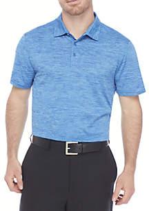 ZELOS Short Sleeve Flex Space Dye Polo Shirt