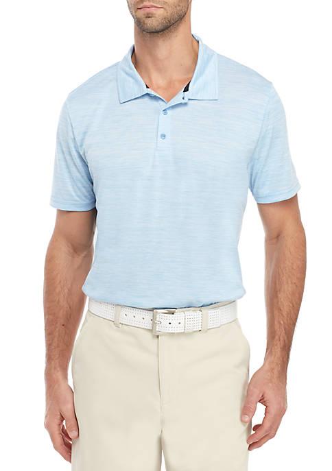 Short Sleeve Spacedye Polo