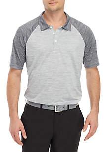 ZELOS Short Sleeve Raglan Polo