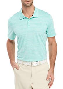 ZELOS Short Sleeve Striped Polo
