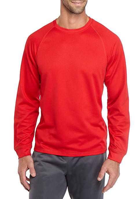 Long Sleeve Thermal Raglan Crew Neck Top