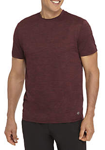 Big & Tall Short Sleeve Space Dye Crew Neck Shirt