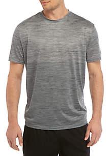 ZELOS Big & Tall Short Sleeve Space Dye Fade T Shirt