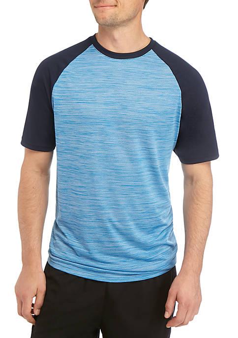 Big & Tall Mesh Raglan Color Block Sleeve T Shirt