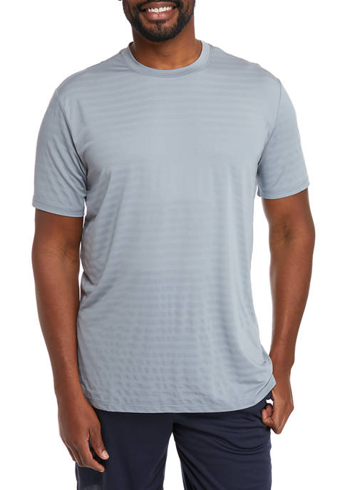 Big & Tall Short Sleeve Stripe Mesh T-Shirt