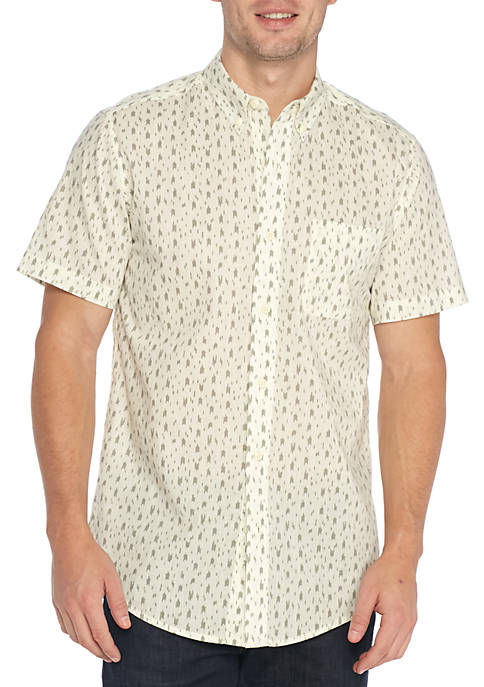 TRUE CRAFT Short Sleeve Tribal Print Shirt