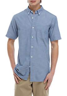 Short Sleeve Chambray Woven Shirt