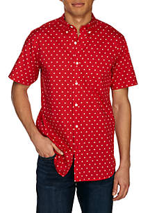 Aztec Printed Woven Button-Down Shirt