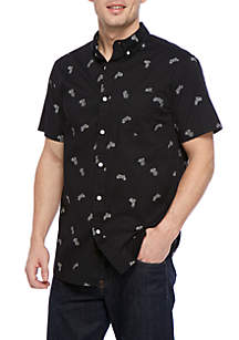 Short Sleeve Motorcycle Woven Shirt