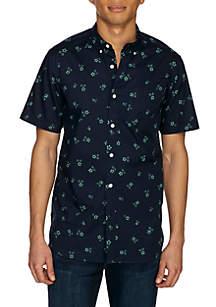 Tri Floral Woven Button-Down Shirt