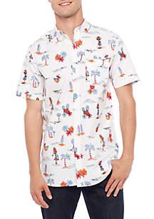 Short Sleeve Hula Girls Woven Shirt