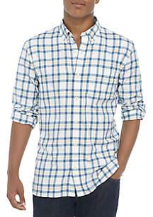 Plaid Twill Woven Button Down Shirt