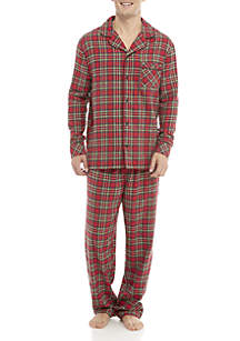 Traditional Plaid Pajama Set