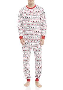 2-Piece Fairisle Pajama Set