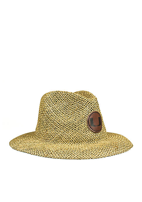 Cowbucker The Miami Hurricanes Full Brim Straw Hat