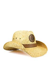 The Oregon Ducks Leather Strawboy Hat