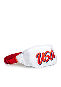 The '90s Rage USA White Fanny Pack