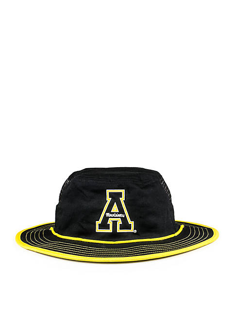 Cowbucker Appalachian State Mountaineers Black Mesh Boonie Bucket