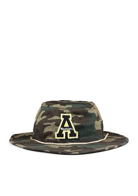 Cowbucker Appalachian State Mountaineers Camo Mesh Boonie Bucket