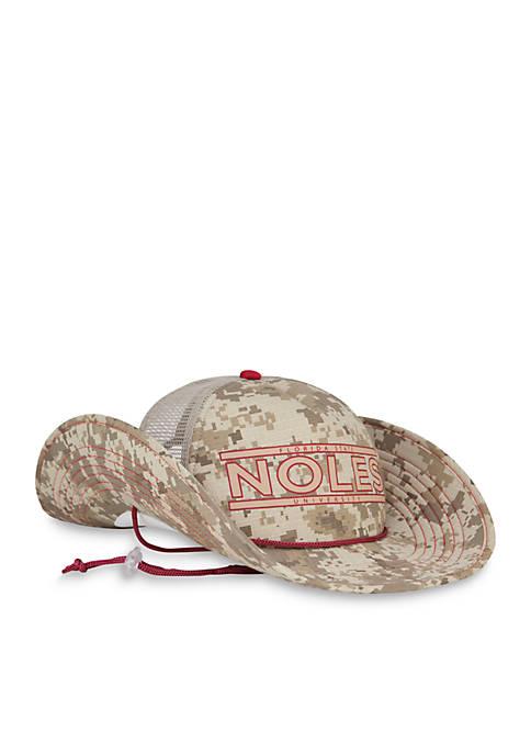 Cowbucker Florida State Seminoles Camo Mesh Bucker Hat