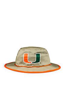 online retailer 063a5 2f4c3 ... best cowbucker miami hurricanes khaki mesh boonie bucket hat 46532 ac408