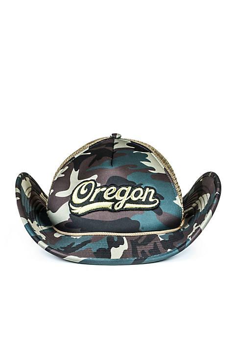 Cowbucker Oregon Ducks Camo Mesh Bucker Hat (Lightweight