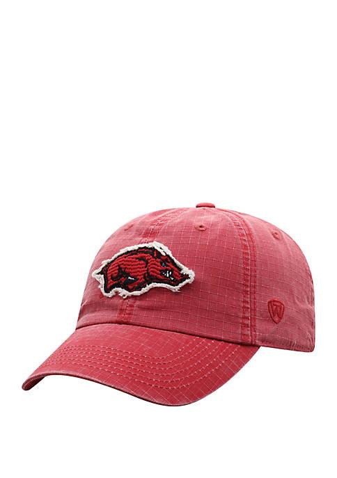 Arkansas Razorbacks Wave Logo Baseball Hat